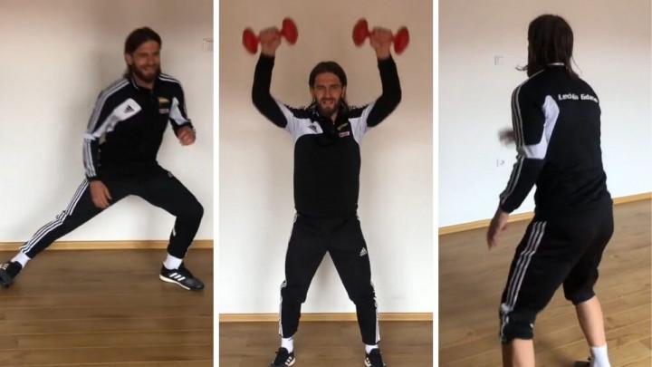 Stojan Vranješ je pravi profesionalac, pokazuje to i dok trenira kod kuće