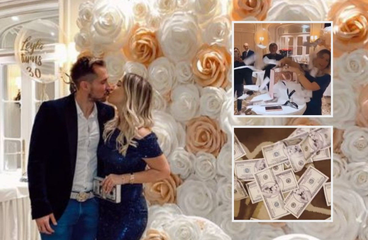Leylu Hajrović obasipali novčanicama na proslavi rođenana, a zbog Izeta je zaplakala