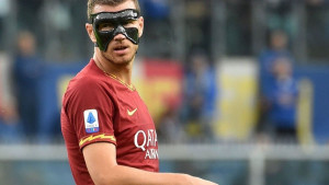 Edin Džeko s maskom ponovo na terenu, Sampdoria i Roma su razočarale