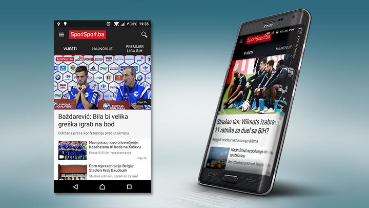 Objavljena sasvim nova verzija Android aplikacije SportSport.ba