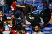 Sramotna fotografija: Koga to napada navijač Lyona?