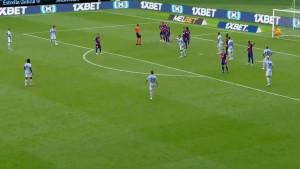 Šok i nevjerica na licima igrača Barcelone: Aspas izveo slobodnjak, Ter Stegen se nije ni pomjerio!