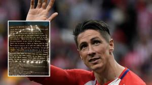 Rukom napisano emotivno pismo Fernando Torresa