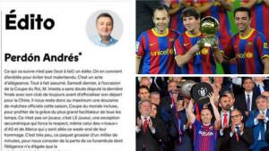 France Footbal se izvinio Iniesti: Andrese, oprosti nam