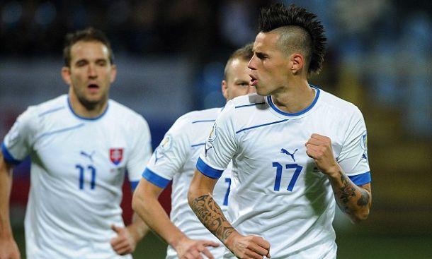 I Slovaci oslabljeni. Hamšik i Weiss propustili trening