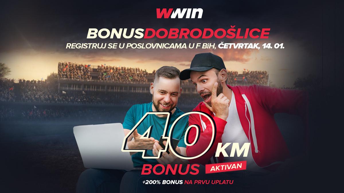 Ne propustite sjajnu priliku: Wwin - bonus dobrodošlice – Četvrtak 14.01.2021.
