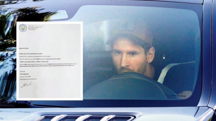 Internetom kruži fotografija ponude Manchester Cityja za Lionela Messija