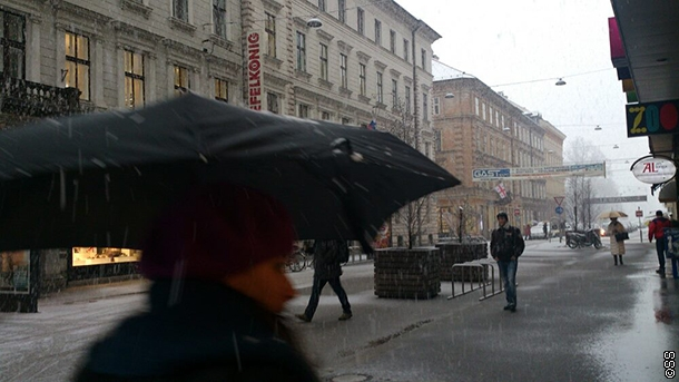 Snijeg okovao Ljubljanu