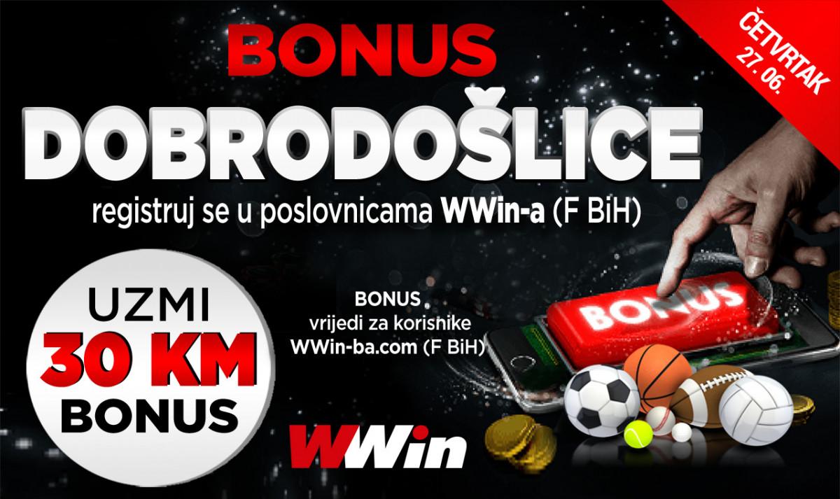 Wwin - Danas bonus dobrodošlice