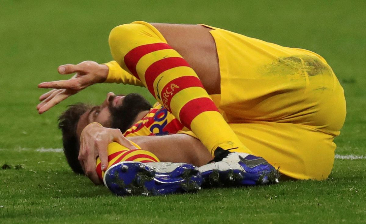 Izraz lica kojeg je teško opisati riječima: Piqueova povreda je blago rečeno - jeziva!