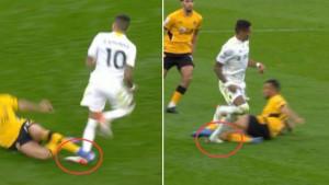 Englezi u čudu: Skoro slomio nogu Raphinhi, a nije dobio crveni karton
