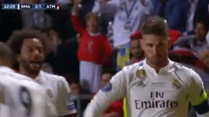 Je li Ramos smislio novu proslavu gola samo za Atletico ili?