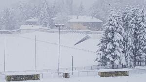 NK Bosna Visoko u problemima: Snijeg srušio krov na stadionu Luke