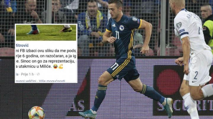 """""""On razočaran, ja igrač utakmice, on sinoć dao za reprezentaciju, a ja u Miliće na utakmicu..."""""""