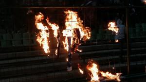Navijači Sarajeva zapalili šalove gostujućeg tima
