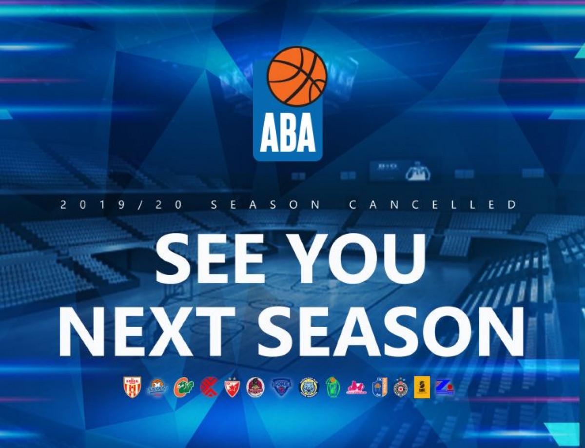 Službeno: Poništena sezona u ABA Ligi