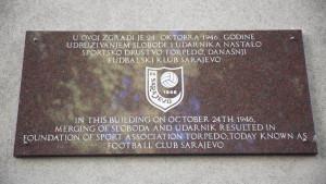 Otkrivena spomen ploča na mjestu gdje je prije 75 godina osnovan FK Sarajevo
