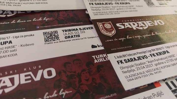 Osvojite ulaznicu za meč Sarajevo - Krupa