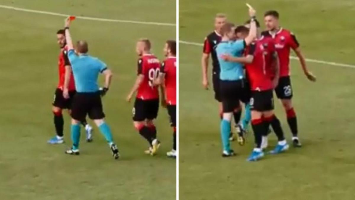 Igrač Shkendije udario sudiju u glavu i dobio crveni karton, ali se tu nije želio zaustaviti