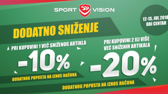 Prva Sport Vision multibrend radnja u Sarajevu