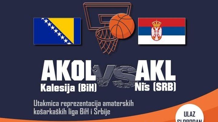 Organizovana utakmica košarkaša amatera BiH i Srbije