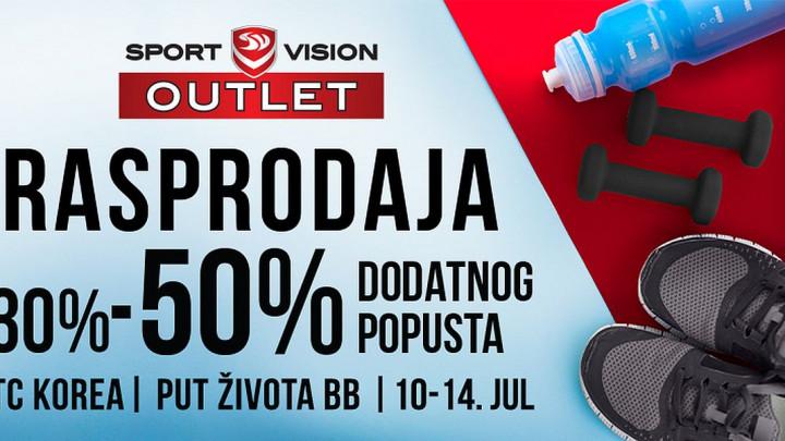 Velika rasprodaja u Sport Vision Outletu u Sarajevu