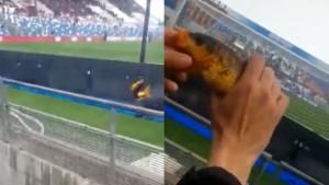 Šta raditi kada vam je dosadno na utakmici? Upecate ribu u jarku koji se nalazi pored stadiona