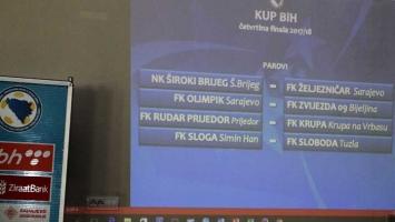 Izuzetno zanimljiv žrijeb četvrtfinala Kupa BiH