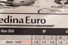 Albanska kladionica: Koeficijent na pobjedu Srbije je - nula