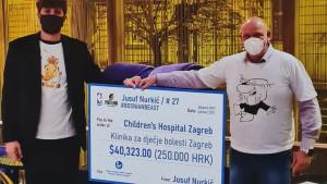 Nurkić donirao novac Klinici za dječje bolesti u Zagrebu