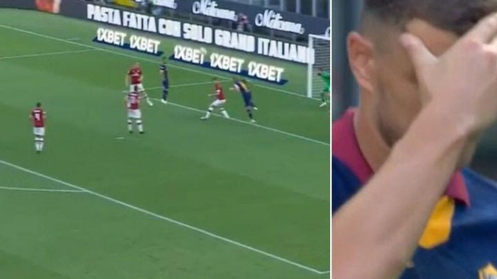 Džeko je protiv Milana imao kolosalnu šansu, njegova reakcija najbolje govori šta je propustio