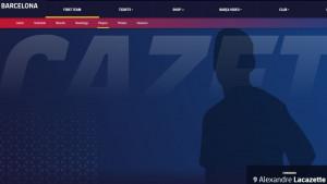 Objašneno zbog čega se Alexandre Lacazette nalazi na zvaničnoj stranici Barcelone