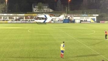Helikopter sletio na teren i prekinuo utakmicu