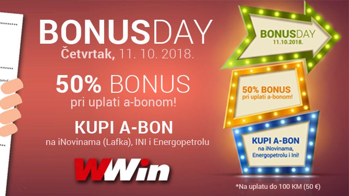 Uplati na WWin putem A-bona i ostvari bonus 50 posto na uplatu