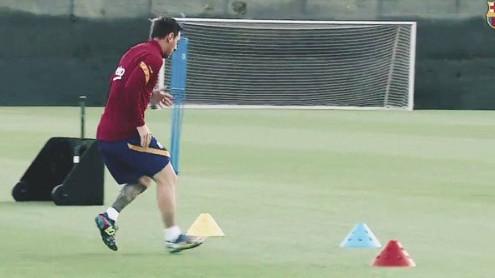 Samo jedan čovjek je jutros bio na treningu Barcelone - Lionel Messi!