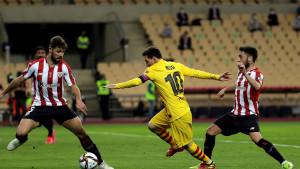 Igrači Athletic Bilbaa protiv Barcelone gotovo da nisu vidjeli loptu u prvom poluvremenu