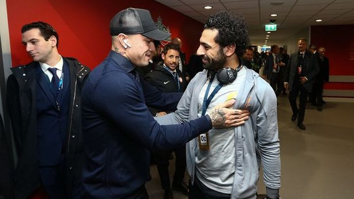 O čemu su pričali Salah i Nainggolan pred početak utakmice?
