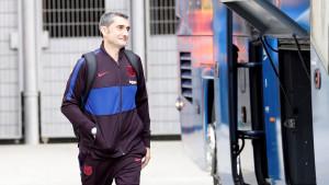Valverde se jutros oprostio od igrača Barcelone pred početak treninga