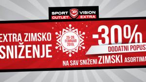 Extra zimsko sniženje u Sport Vision Outlet Extra