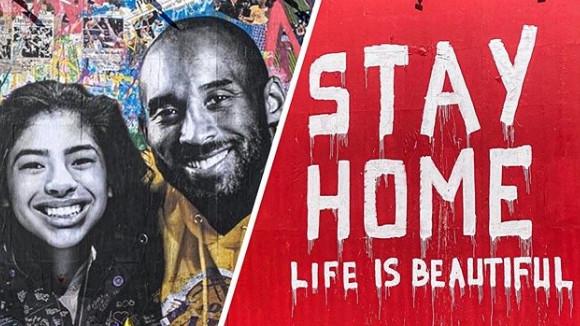 Oskrnavljen mural posvećen Kobeju i Gianni Bryant