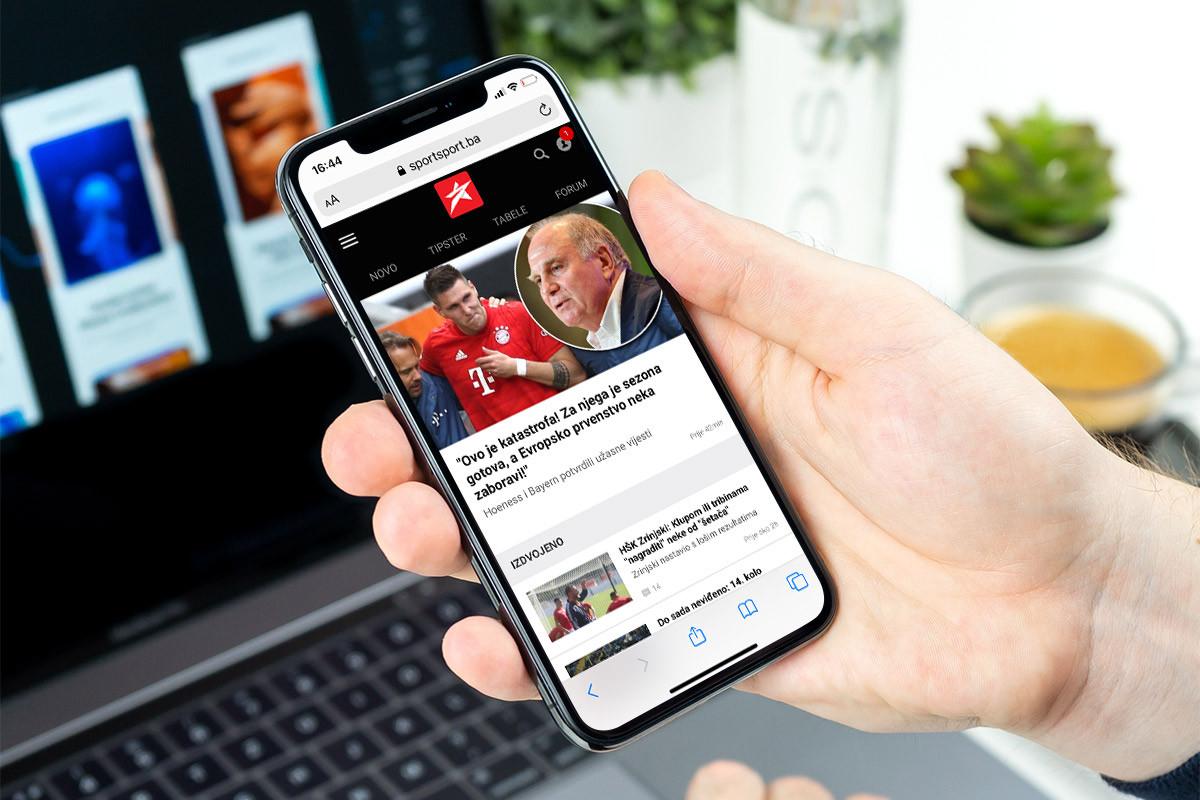 Unaprijeđeni korisnički profili na portalu SportSport.ba
