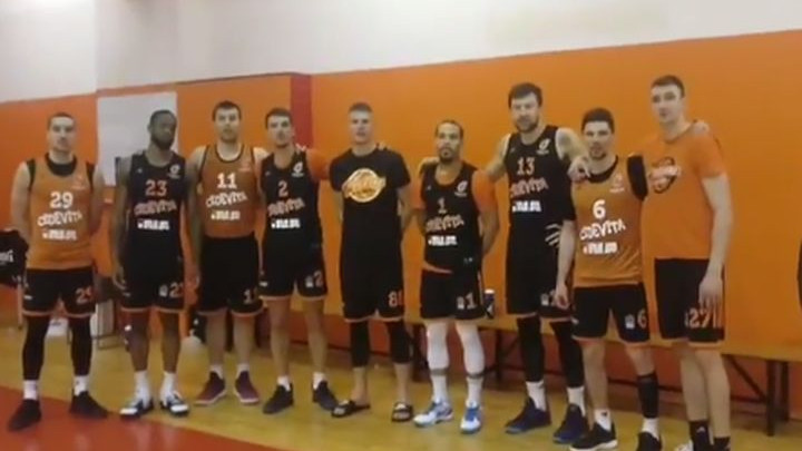 Košarkaši Cedevite nakon treninga snimili poseban video za Jusufa Nurkića