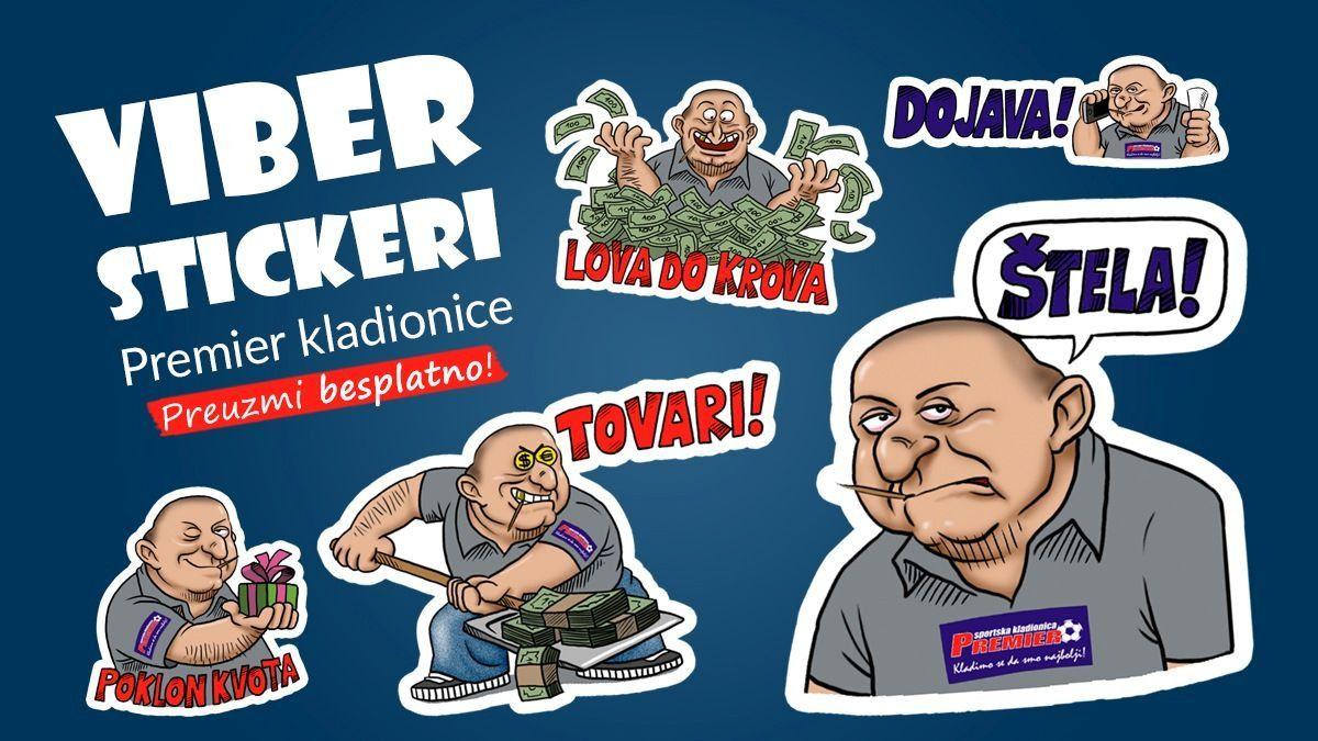 Preuzmi Viber stickere Premier kladionice!