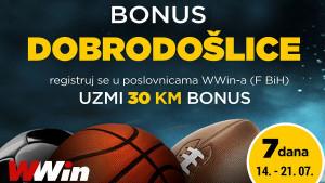 Wwin - Bonus dobrodošlice – 7 dana
