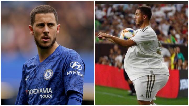 Nije trebalo dugo da se Hazard nađe na meti nezadovoljnih navijača Reala