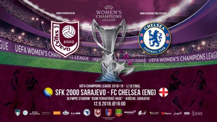 Dođi na utakmicu SFK 2000 Sarajevo - Chelsea i osvoji Nike dres bordo kluba
