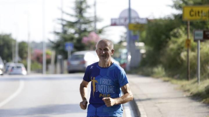 Dobri duh Mostara Džemal Kasumović trčanjem do Međugorja obilježio blagdan Velike Gospe