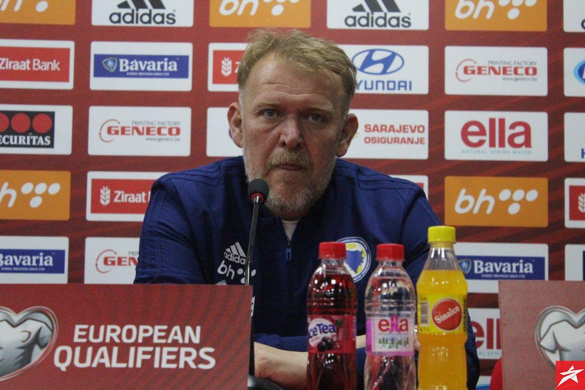 Robert Prosinečki na press konferenciji otkrio početni sastav BiH za okršaj protiv Italije