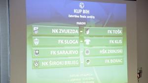 Poznati parovi četvrtfinala Kupa Bosne i Hercegovine!