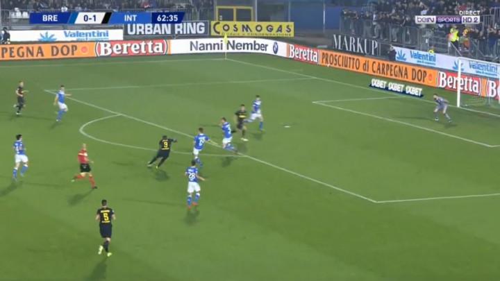 Brescia dominirala, a onda se Lukaku pojavio niotkud i postigao fenomenalan gol